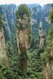 Montagna di hallelujah nell'area di Yuangjiajie Fotografie Stock