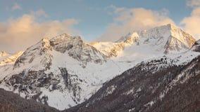 Montagna di Hochgall nel Tirolo del sud, Italia Immagine Stock