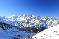 Montagna di Hohsaas, 3.142 m. Le alpi, Svizzera Fotografie Stock