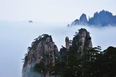Montagna di Huangshan Fotografie Stock