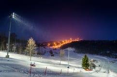 Montagna di inverno fotografia stock