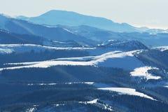 Montagna di inverno Immagini Stock Libere da Diritti