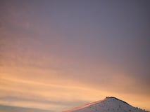 Montagna di inverno a polvere Immagine Stock