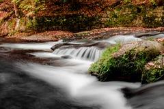 Montagna di Jizerske, fiume di Kamenice, repubblica Ceca fotografia stock libera da diritti