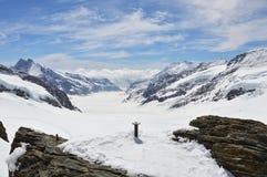 Montagna di Jungfrau Immagini Stock Libere da Diritti