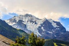 Montagna di Jungfrau, Svizzera Fotografia Stock