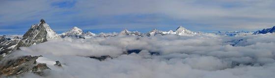 Montagna di Jungfraujoch Immagini Stock