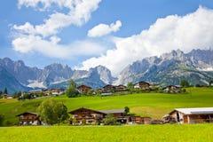 Montagna di Kaiser, Ellmau Immagini Stock