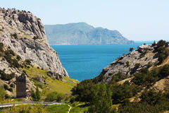 Montagna di Karadag e del Mar Nero Fotografia Stock Libera da Diritti