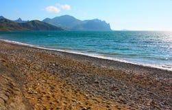 Montagna di Karadag e del Mar Nero Immagini Stock Libere da Diritti