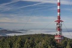 Montagna di Klet nel giorno soleggiato di inverno Immagini Stock Libere da Diritti