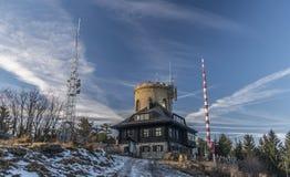 Montagna di Klet nel giorno soleggiato di inverno Immagine Stock Libera da Diritti