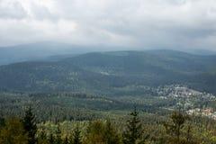 Montagna di Krkonose vicino a Harrachov, repubblica Ceca fotografia stock