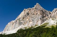 Montagna di Laguazoi nelle alpi delle dolomia, Italia Fotografia Stock Libera da Diritti