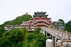 Montagna di Laojun a Luoyang Fotografie Stock