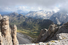 Montagna di Marmolada, Italia Immagini Stock Libere da Diritti