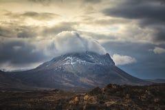 Montagna di Marsco, isola di Skye, Higlands della Scozia fotografia stock