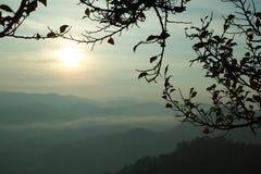 Montagna di mattina Immagine Stock