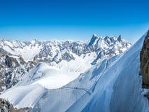 Montagna di Mont Blanc in Francia Immagini Stock