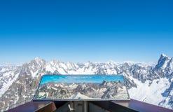 Montagna di Mont Blanc in Francia Fotografie Stock