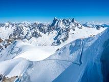Montagna di Mont Blanc in Francia Immagini Stock Libere da Diritti