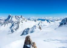 Montagna di Mont Blanc in Francia Fotografie Stock Libere da Diritti