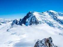 Montagna di Mont Blanc in Francia Fotografia Stock