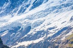 Montagna di Mont Blanc (Monte Bianco) in Svizzera Fotografia Stock Libera da Diritti