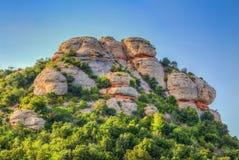 Montagna di Montserrat Fotografia Stock