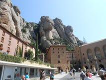 Montagna di Montserrat in Spagna immagini stock libere da diritti