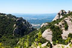 Montagna di Montserrat vicino a Barcellona Fotografia Stock