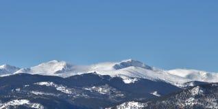 Montagna di Mt Evans nell'inverno Fotografie Stock Libere da Diritti