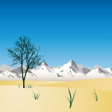 montagna di paesaggio Fotografie Stock
