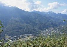 montagna di paesaggio Immagini Stock