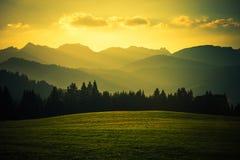 montagna di paesaggio scenica Fotografie Stock