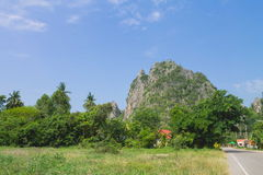 Montagna di PATTAWEE in Uthaithani Fotografie Stock