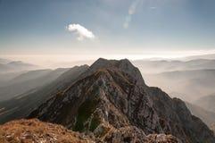 Montagna di Piatra Craiului Fotografia Stock