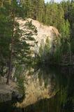 Montagna di pietra del talco Fotografia Stock