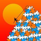Montagna di puzzle Fotografie Stock