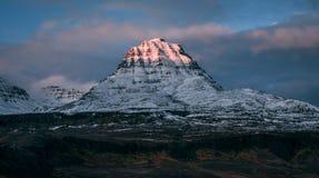 Montagna di Qeqertarsuaq fotografia stock libera da diritti
