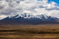 Montagna di Qiwllarahu fotografie stock libere da diritti