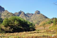 Montagna di Qiyun Immagine Stock Libera da Diritti