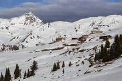Montagna di Rastkogel in Austria, 2015 Fotografia Stock Libera da Diritti