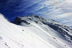 Montagna di Retezat nell'inverno Fotografia Stock Libera da Diritti