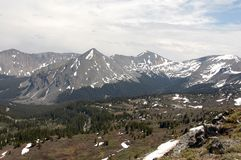 Montagna di Rockie alta Fotografia Stock Libera da Diritti