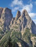Montagna di Schlern, dolomia, Tirolo del sud, Italia Immagine Stock Libera da Diritti