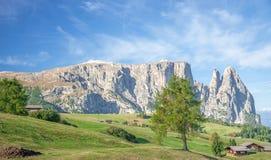 Montagna di Schlern, Seiser Alm, Tirolo del sud, Italia Immagini Stock Libere da Diritti