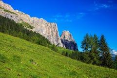 Montagna di Sciliar in Italia Fotografie Stock Libere da Diritti