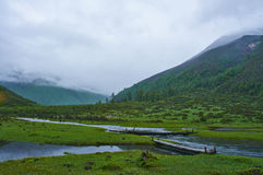 Montagna di Siguniang Fotografia Stock Libera da Diritti