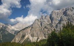 Montagna di Skrlatica, alpi di Julian, Slovenia Fotografie Stock Libere da Diritti
